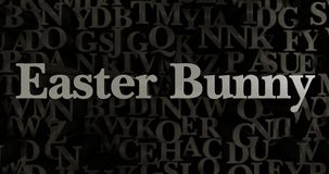 Easter Bunny - 3D rendered metallic typeset headline illustration. Can be used for an online banner ad or a print postcard Royalty Free Stock Photos