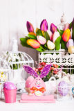 Easter bunny decor Stock Photos