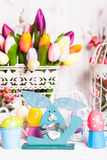 Easter bunny decor Royalty Free Stock Photography