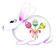 Easter Bunny Decorated with a Bouquet of Eggs Royalty Free Stock Photo