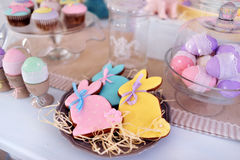 Easter bunny and decoration Royalty Free Stock Photography
