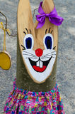 Easter bunny decoration Royalty Free Stock Image