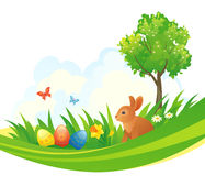 Easter bunny design. Illustration of an Easter design with a bunny Stock Photography
