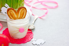 Easter bunny dessert Stock Photography