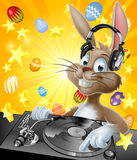 Easter Bunny DJ Royalty Free Stock Photo