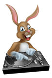 Easter Bunny DJ at the Decks Royalty Free Stock Photo