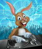 Easter Bunny DJ Party Stock Image