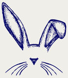 Easter bunny ears. Doodle style vector illustration