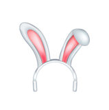 Easter bunny ears isolated on white Stock Images
