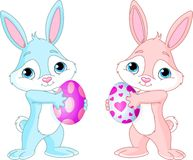 Easter Bunny with Easter Egg Stock Images