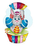 Easter bunny and Easter egg  Stock Images
