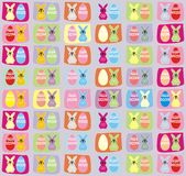 Easter bunny and Easter Egg pattern background Royalty Free Stock Images