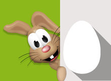 Easter Bunny Easter Egg Time. Graphic illustration icon symbol Stock Photos