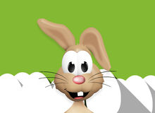 Easter Bunny Easter Egg Time. Graphic illustration icon symbol Royalty Free Stock Photos