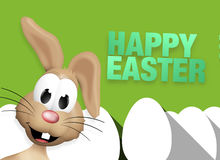Easter Bunny Easter Egg Time Stock Image