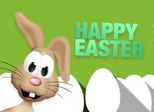 Easter Bunny Easter Egg Time. Illustration graphic design Stock Image