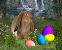 Easter Bunny with Easter Eggs Royalty Free Stock Photos
