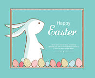 Easter bunny and Easter eggs. greeting card Royalty Free Stock Photos