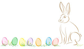 Easter Bunny Easter Eggs Royalty Free Stock Photography