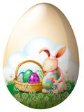 An easter bunny with easter eggs Royalty Free Stock Photography