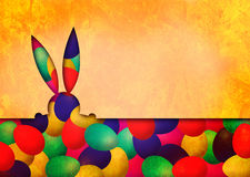 Easter Bunny and Easter Eggs Royalty Free Stock Image