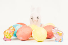 Easter Bunny with Easter eggs Stock Image