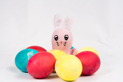 Easter Bunny with Easter eggs Royalty Free Stock Image