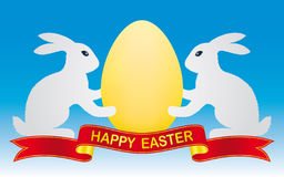 Easter bunny and egg Stock Photography