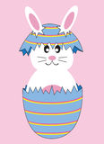 Easter Bunny Egg. Cute Easter bunny rabbit egg Royalty Free Stock Photo