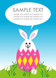 Easter bunny in the egg royalty free stock photography