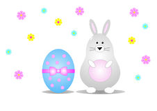 Easter bunny and egg Stock Image