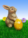 An easter bunny with egg Stock Image