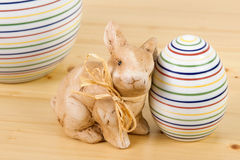 Easter bunny with egg Royalty Free Stock Photography