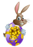 Easter bunny and egg Royalty Free Stock Photography