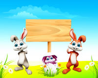 Easter bunny in the egg. 3d rendered illustration of Easter bunny in the egg Royalty Free Stock Images