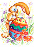 Easter bunny with egg Stock Photography