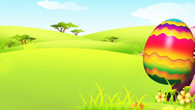 Easter bunny with egg and alpha channel stock footage