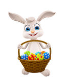 Easter bunny with Egg Basket Royalty Free Stock Photos