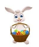 Easter bunny with Egg Basket. 3d illustration of Easter bunny with Egg Basket Royalty Free Stock Photos