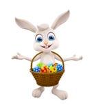 Easter bunny with Egg Basket. 3d illustration of Easter bunny with Egg Basket Royalty Free Stock Images