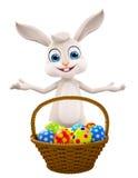 Easter bunny with Egg Basket. 3d illustration of Easter bunny with Egg Basket Royalty Free Stock Image