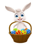 Easter bunny with Egg Basket Royalty Free Stock Image