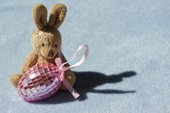Easter Bunny and the Egg Stock Photography