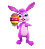 Easter Bunny with egg. 3D illustration of Easter bunny with egg Royalty Free Stock Images