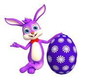 Easter bunny with Egg. 3d illustration of Easter bunny with Egg Royalty Free Stock Photo