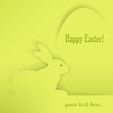 Easter bunny and egg on green Royalty Free Stock Images