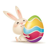 Easter bunny and egg vector illustration