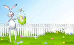 Easter Bunny Egg Hunt Stock Images