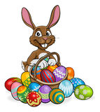Easter Bunny Egg Hunt royalty free illustration