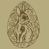 Easter Bunny. In the egg openwork retro styles Stock Images